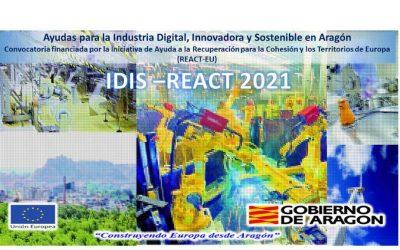 Convocatoria de ayudas para la Industria Digital, Innovadora y Sostenible IDIS-REACT 2021